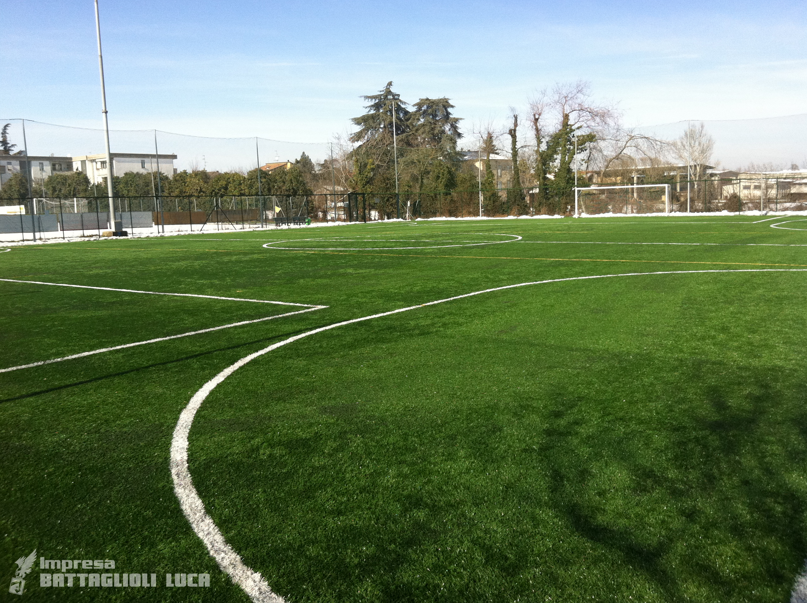 Campo da Calcio di Fontanellato per Partite a 8 giocatori in prato sintetico