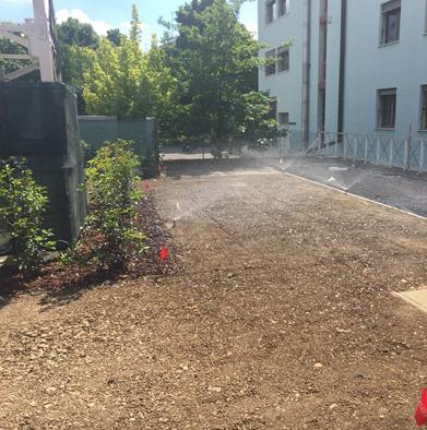 impianto irrigazione funzionante collaudo impianto nuovo condominio impresa battaglioli luca